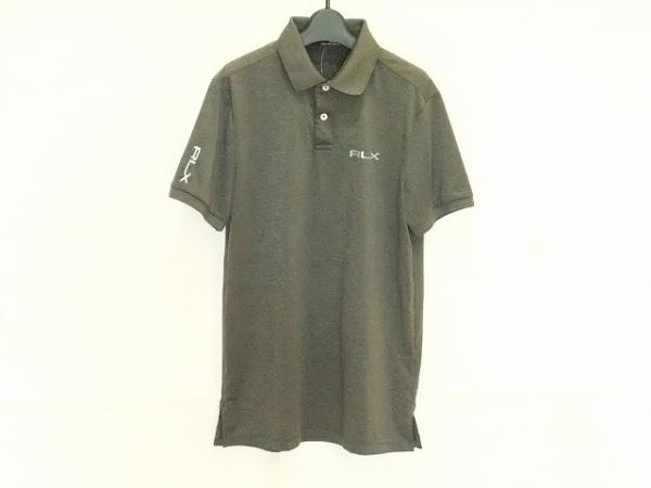 RLX(RalphLauren)(ラルフローレン) 半袖ポロシャツ サイズS メンズ グレー