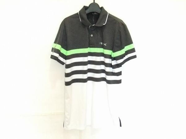 ラルフローレン 半袖ポロシャツ サイズS メンズ 白×グレー×ライトグリーン ボーダー