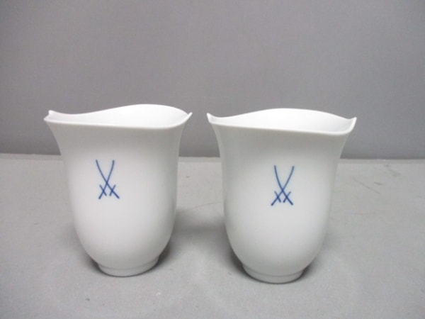 Meissen(マイセン) 食器新品同様  白 ペアカップ 陶器