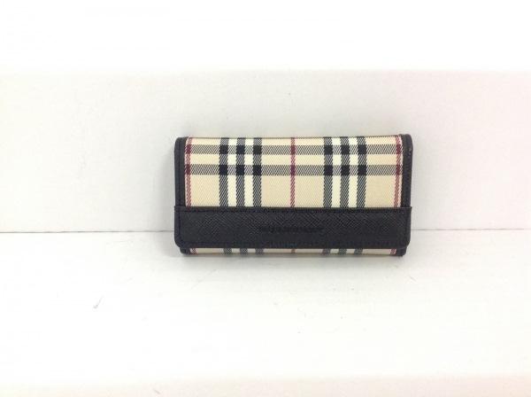 30497b388207 Burberry(バーバリー) キーケース美品 ベージュ×黒×レッド 5連フック ...