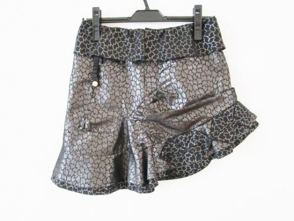 ドレスキャンプ ミニスカート サイズ36 S レディース美品  黒×シルバー ラメ