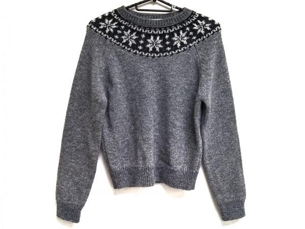サンローランパリ 長袖セーター サイズS レディース 363260 グレー×黒×白