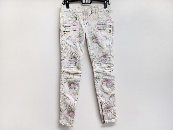 BALMAIN(バルマン) パンツ サイズ36 S レディース 5500 114 白×ピンク×マルチ 花柄