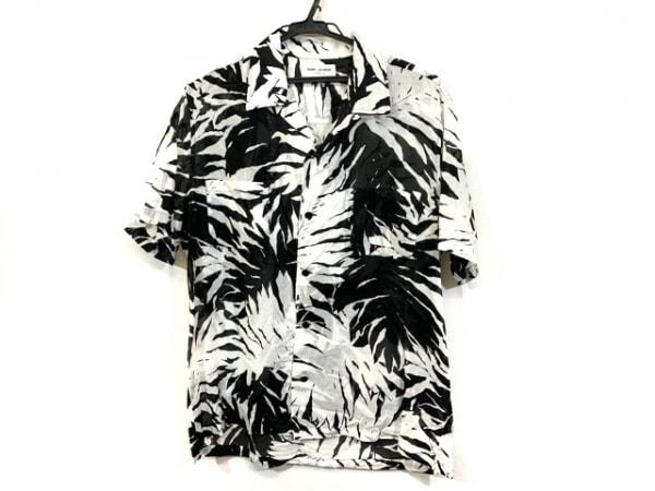 サンローランパリ 半袖シャツ サイズ39 メンズ 415167 Y955L 黒×白