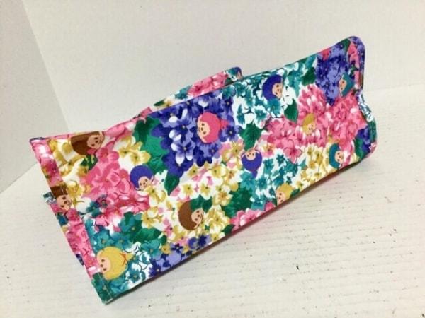 fafa(フェフェ) ハンドバッグ新品同様  ピンク×パープル×マルチ 花柄 ナイロン