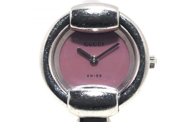 GUCCI(グッチ) 腕時計 1400L レディース シェル文字盤 ピンク