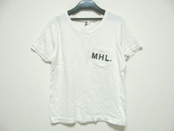 MHL.(マーガレットハウエル) 半袖Tシャツ サイズ2 M レディース アイボリー×黒