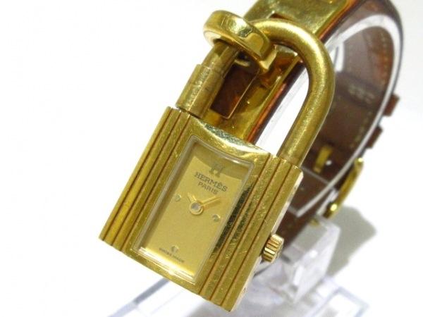 HERMES(エルメス) 腕時計 - レディース 革ベルト/ゴールド金具/〇X ゴールド