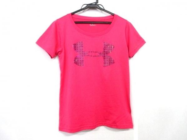 アンダーアーマー 半袖Tシャツ レディース ピンク×ダークブラウン×パープル