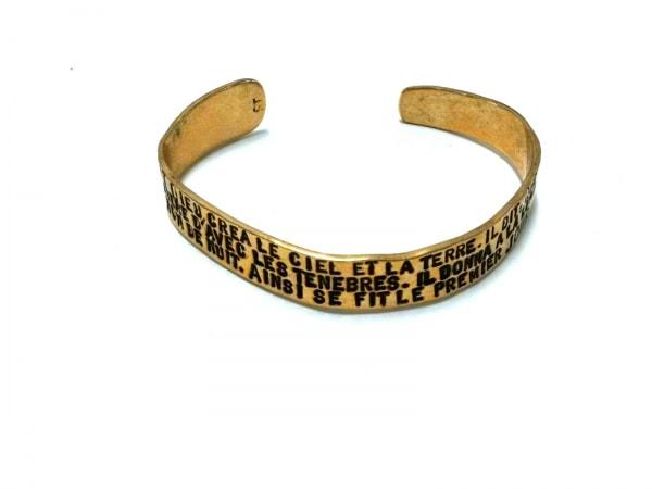 SERGE THORAVAL(セルジュ トラヴァル) バングル美品  金属素材 ゴールド×黒