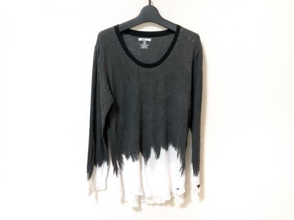 Roen(ロエン) 長袖Tシャツ サイズ44 L レディース美品  ダークグレー×白 ハート