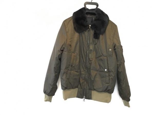 タトラス ダウンジャケット サイズ02 M メンズ美品  ヴィーコ MTA18A4508 カーキ×黒