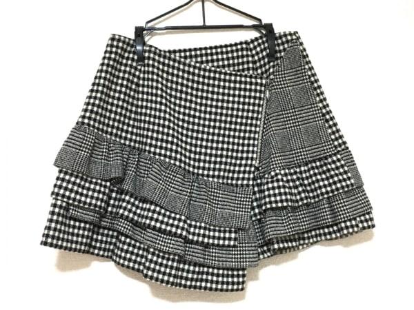 ジェーンマープル ミニスカート サイズM レディース美品  黒×アイボリー