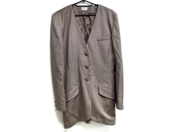 フォクシー ジャケット サイズ40 M レディース グレー ロング丈/春・秋物/BOUTIQUE