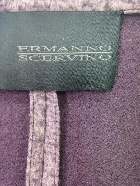 エルマノシェルビーノ ジャケット サイズ46 XL レディース美品  パープル×マルチ