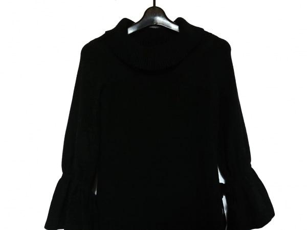 ミシェルマカロン ワンピース サイズS レディース美品  黒 フリル/ニット