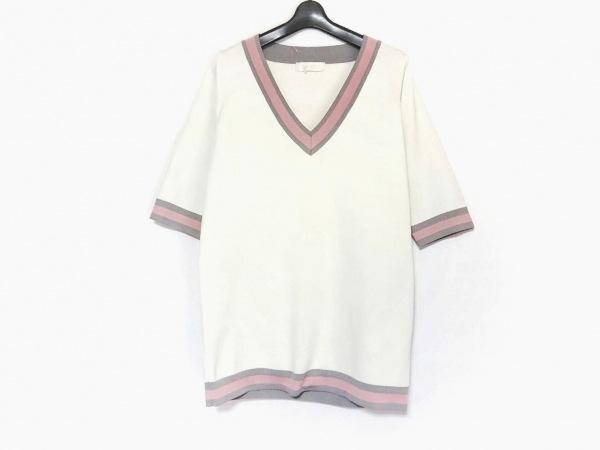 ミシェルマカロン チュニック サイズS レディース美品  白×グレー×ピンク