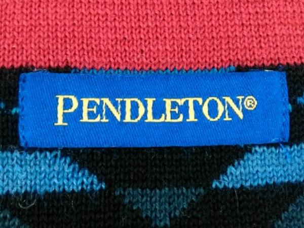 PENDLETON(ペンドルトン) マフラー美品  レッド×黒×マルチ ウール