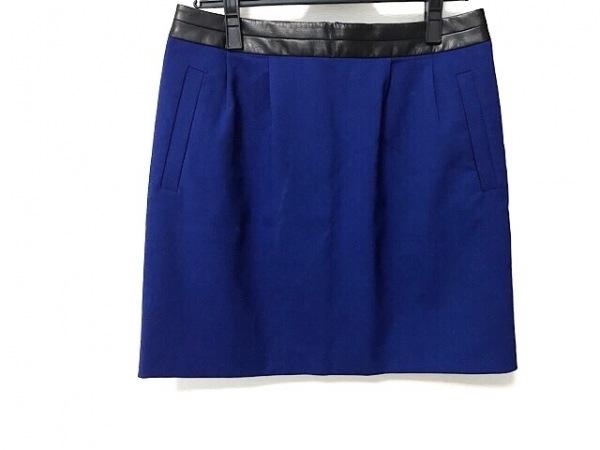 ボディドレッシングデラックス ミニスカート サイズ40 M レディース美品  ブルー×黒