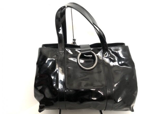 SEQUOIA(セコイア) ハンドバッグ 黒 PVC(塩化ビニール)