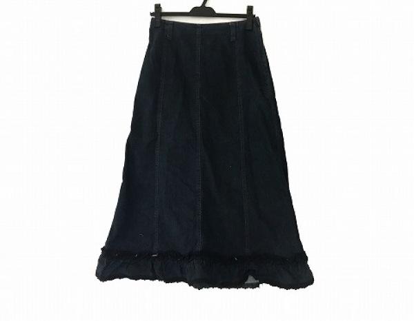 ピンクハウス ロングスカート サイズM レディース美品  ダークネイビー デニム