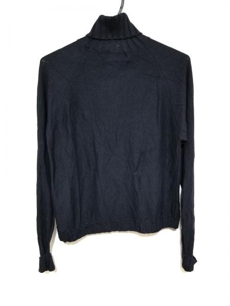 PICONE(ピッコーネ) 長袖セーター サイズ38 S レディース 黒 タートルネック/刺繍