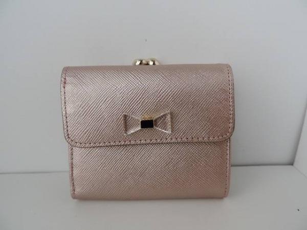 ANTEPRIMA(アンテプリマ) 3つ折り財布美品  ゴールド×クリア がま口/リボン レザー