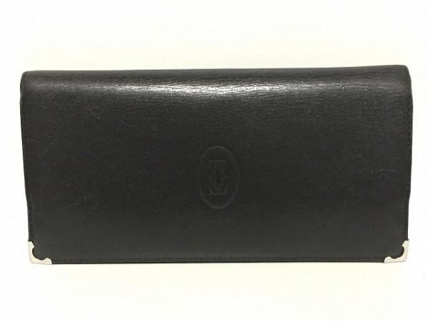 Cartier(カルティエ) 長財布 カボション 黒 レザー