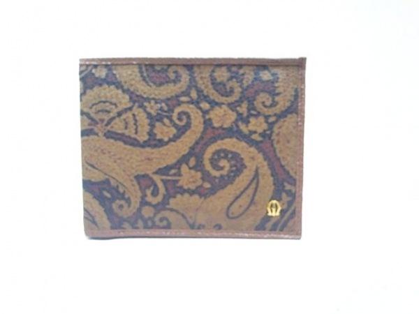 MICHELANGELO(ミケランジェロ) 2つ折り財布 ダークブラウン×ブラウン×黒 レザー