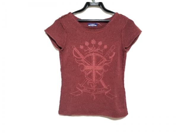 バーバリーブルーレーベル 半袖セーター サイズ38 M レディース美品  レッド