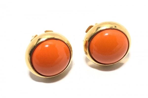 HERMES(エルメス) ピアス エクリプスピアス 金属素材 オレンジ×ゴールド