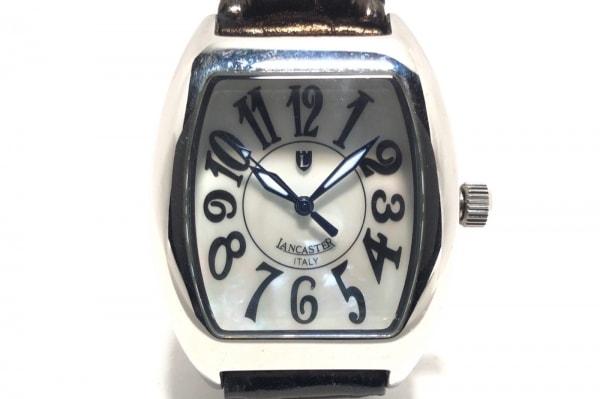 ランカスター 腕時計 - レディース 革ベルト/型押し加工/シェル文字盤 シェルホワイト