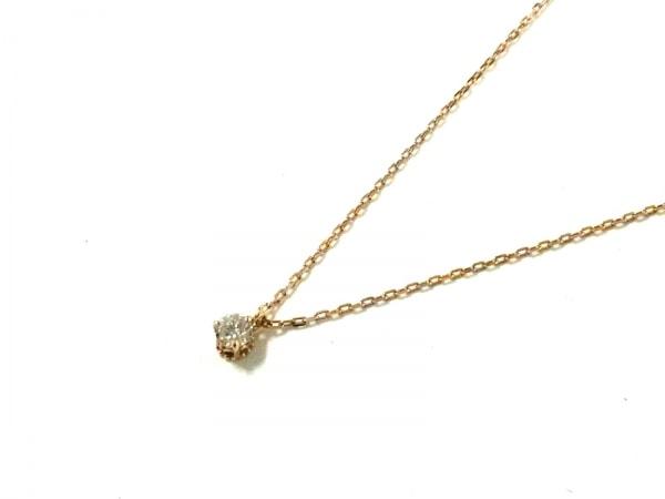 agete(アガット) ネックレス美品  K18YG×ダイヤモンド