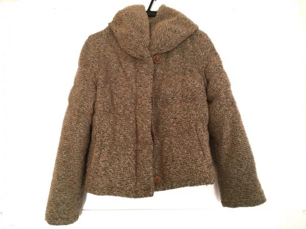 バーニーズ ダウンジャケット サイズ38 M レディース美品  ベージュ×マルチ 冬物