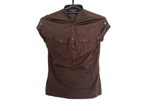 MATERIA(マテリア) 半袖ポロシャツ サイズ38 M レディース ダークブラウン