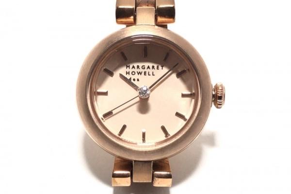 マーガレットハウエル 腕時計 5432-S063892 レディース idea/ラインストーン ベージュ