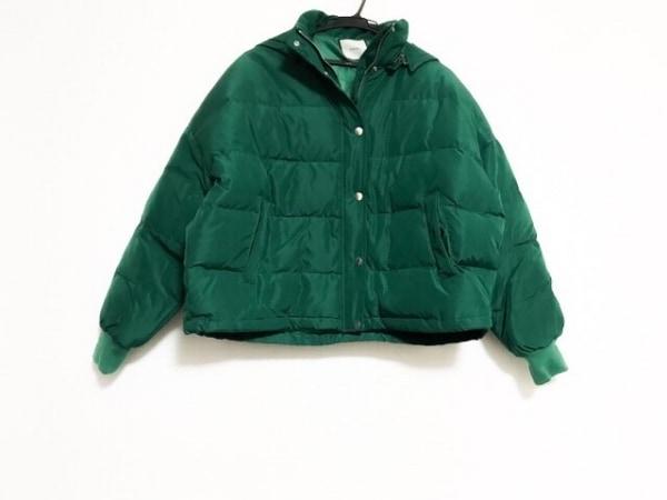 ジュエティ ダウンジャケット サイズM レディース美品  グリーン フード/冬物