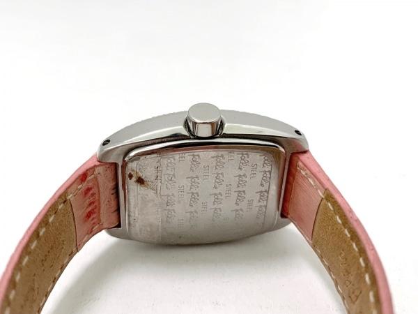 フォリフォリ 腕時計 - レディース ラインストーンベゼル/革ベルト/型押し加工