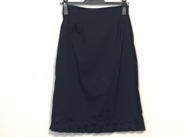 34a1b4275c48 PRADA(プラダ) スカート サイズ38 S レディース美品 ダークネイビーの ...