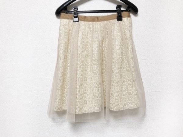 アプワイザーリッシェ スカート サイズ1 S レディース美品  ベージュ×ゴールド