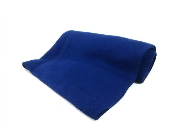 MOGA(モガ) マフラー新品同様  ブルー ウール×ナイロン×ポリウレタン