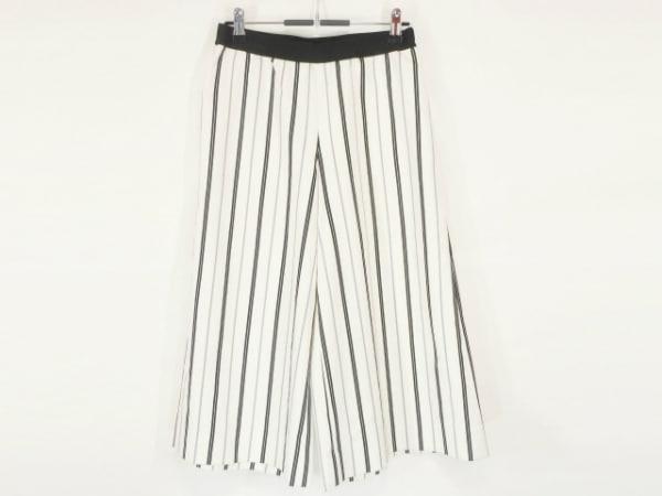 エム.フィル パンツ サイズ38 M レディース美品  アイボリー×黒×ライトグレー