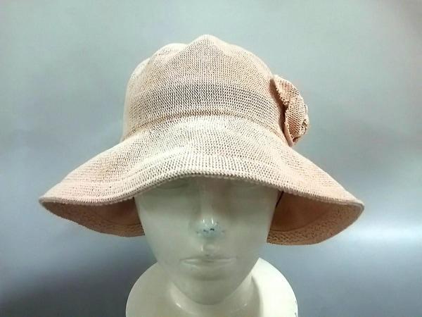 maxim(マキシン) 帽子 ベージュ フラワー 和紙×ポリ塩化ビニル