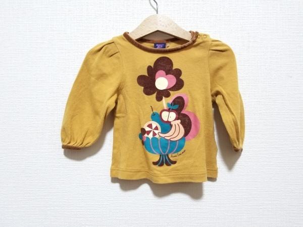 アナスイミニ 長袖Tシャツ サイズ80 レディース美品  花柄/一部ベロア/子供服
