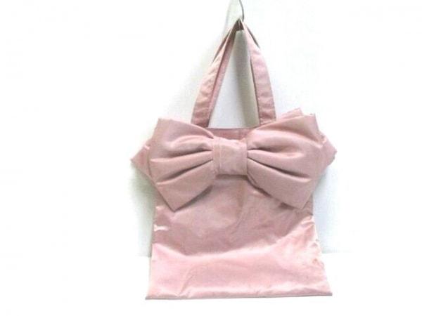 MUGUET(ミュゲ) トートバッグ ピンク リボン 化学繊維