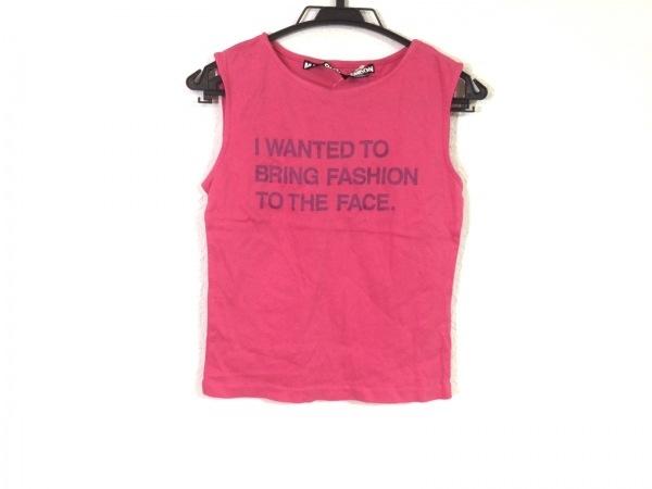 マリークワント ノースリーブTシャツ サイズM レディース レッド×パープル LONDON