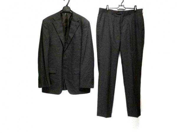 インヘイルエクスヘイル シングルスーツ サイズ180AB メンズ 黒 ストライプ