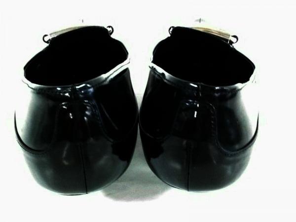 PRADA(プラダ) パンプス 37 1/2 レディース 黒 エナメル(レザー)