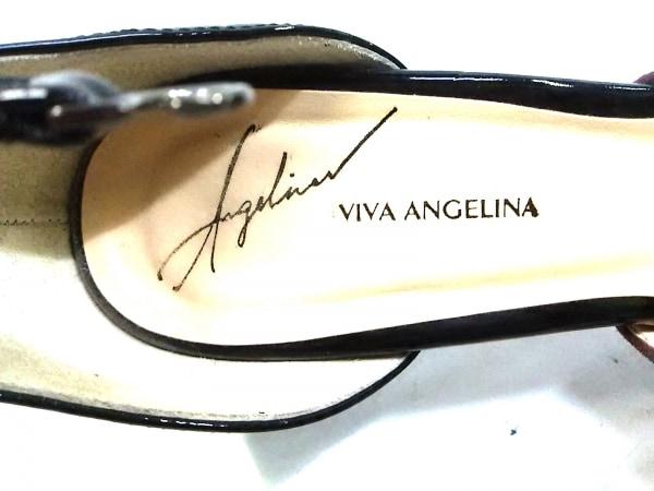 VIVA ANGELINA(ビバアンジェリーナ) サンダル 24 レディース ボルドー×黒