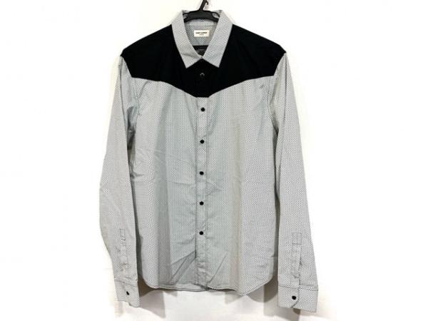 SAINT LAURENT PARIS(サンローランパリ) 長袖シャツ サイズ41 メンズ美品  白×黒